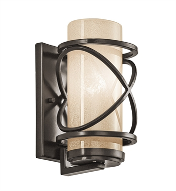 Kichler 49356AZ One Light Outdoor Wall Sconce in Architectural Bronze
