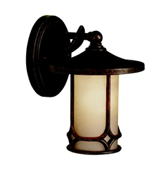 Kichler Chicago Collection 1 Light Outdoor Wall Sconce in Aged Bronze