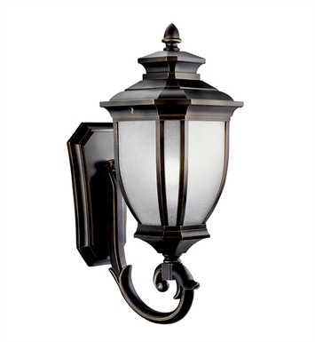 Kichler 11004RZ Salisbury Collection 1 Light Outdoor Wall Sconce in Rubbed Bronze