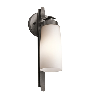 Kichler 49024AVI Vitalino Collection 1 Light Outdoor Wall Sconce in Anvil Iron