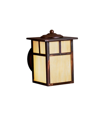 Kichler 10962CV Alameda Collection 1 Light Outdoor Wall Sconce in Brown