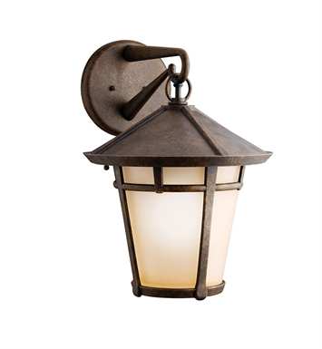 Kichler 9054AGZ One Light Outdoor Wall Sconce in Aged Bronze