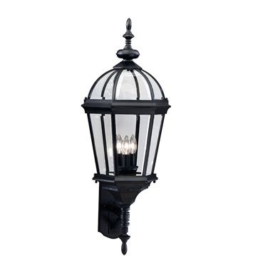 Kichler Trenton Collection 3 Light Outdoor Wall Sconce in Black (Painted)