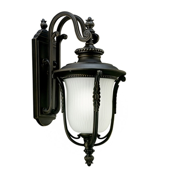 Kichler 11031RZ One Light Outdoor Wall Sconce in Rubbed Bronze