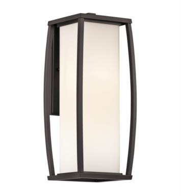 "Kichler 49339AZ Bowen 2 Light 7 1/4"" Incandescent Outdoor Wall Sconce in Architectural Bronze"