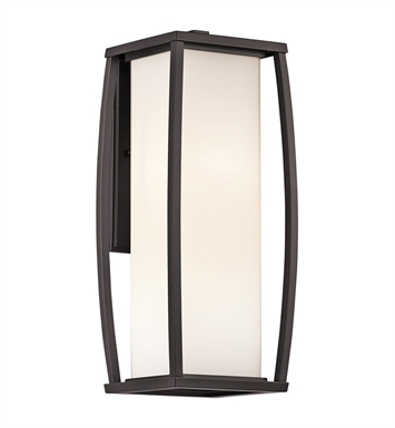 Kichler 49339AZ Bowen Collection 2 Light Outdoor Wall Sconce in Architectural Bronze