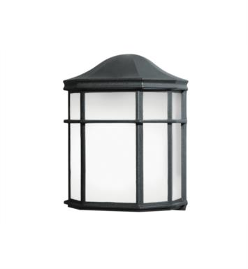 "Kichler 10941BK 1 Light 7 3/4"" Fluorescent Outdoor Wall Sconce in Black"