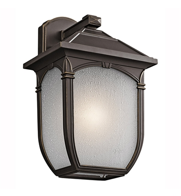 Kichler 49430RZ One Light Outdoor Wall Sconce in Rubbed Bronze
