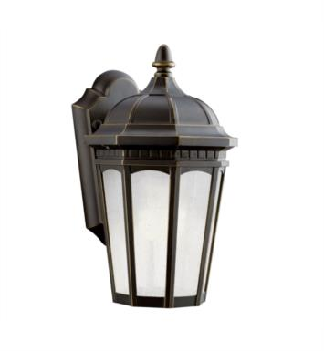"Kichler 11010RZ Courtyard 1 Light 6 1/4"" Compact Fluorescent Outdoor Wall Sconce in Rubbed Bronze"
