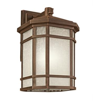 "Kichler 9721PR Cameron 1 Light 12"" Incandescent Outdoor Wall Sconce in Prairie Rock"
