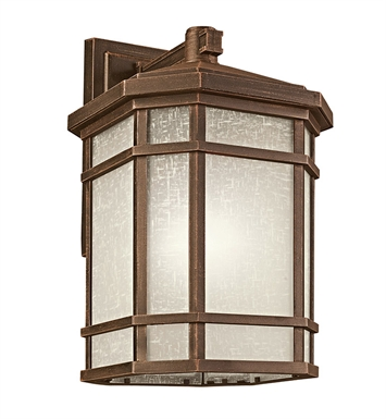 Kichler 9721PR Cameron Collection 1 Light Outdoor Wall Sconce in Prairie Rock