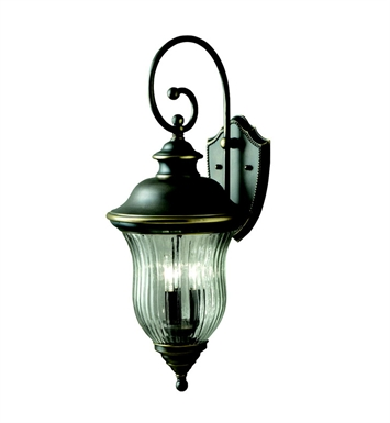 Kichler 9492OZ Sausalito Collection 3 Light Outdoor Wall Sconce in Olde Bronze