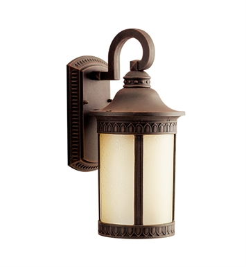 Kichler 10904PR Randolph Collection 1 Light Outdoor Wall Sconce in Prairie Rock