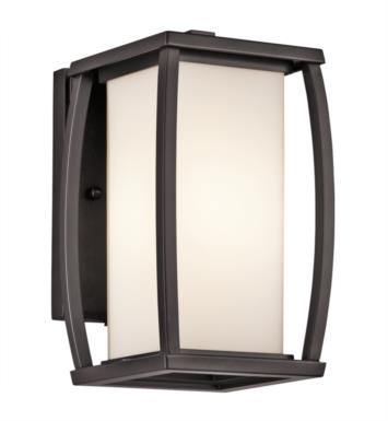 "Kichler 49336AZ Bowen 1 Light 5 1/2"" Incandescent Outdoor Wall Sconce in Architectural Bronze"