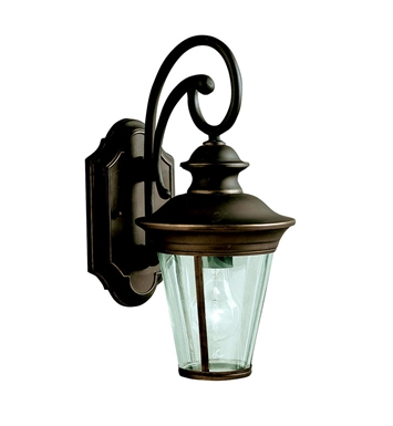 Kichler 9346OZ Eau Claire Collection 1 Light Outdoor Wall Sconce in Olde Bronze