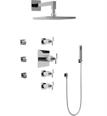 Graff GC1.222A-C9S-SN Immersion Contemporary Square Thermostatic Set with Body Sprays and Handshower With Finish: Steelnox (Satin Nickel) And Rough / Valve: Trim + Rough
