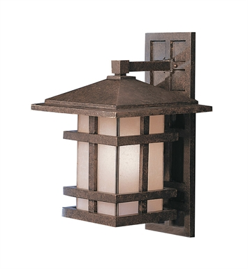 Kichler 9132AGZ One Light Outdoor Wall Sconce in Aged Bronze