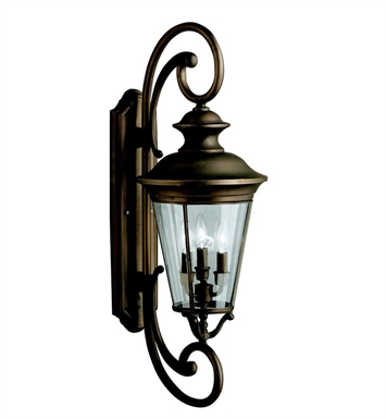 Kichler 9349OZ Eau Claire Collection 4 Light Outdoor Wall Sconce in Olde Bronze