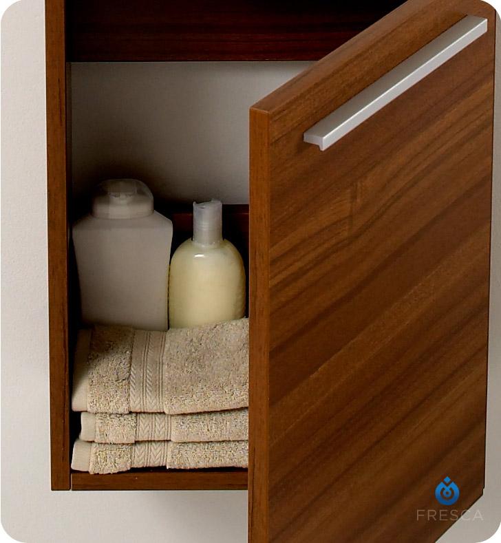 Fresca Fvn8002tk Pulito 16 Quot Small Teak Modern Bathroom