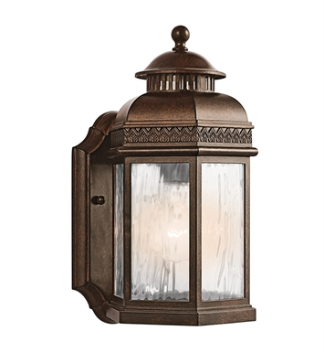 Kichler 49461BRZ Tolland Collection 1 Light Outdoor Wall Sconce in Bronze