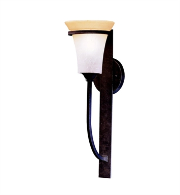 Kichler One Light Outdoor Wall Sconce in Distressed Black