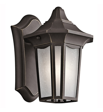 Kichler 49415RZ Nob Hill Collection 1 Light Outdoor Wall Sconce in Rubbed Bronze