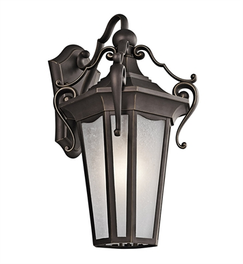 Kichler 49417RZ Nob Hill Collection 1 Light Outdoor Wall Sconce in Rubbed Bronze