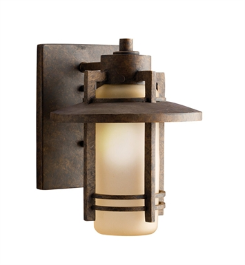 Kichler Creston Collection 1 Light Outdoor Wall Sconce in Aged Bronze
