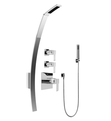 Graff GF2.020A-LM38S-SN Luna Thermostatic Shower Set with Handshower With Finish: Steelnox (Satin Nickel)