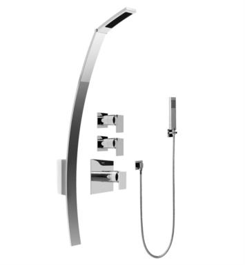 "Graff GF2.020A-LM31S-SN Solar/Structure 53 3/8"" Thermostatic Shower Set with Handshower With Finish: Steelnox (Satin Nickel) And Rough / Valve: Rough"