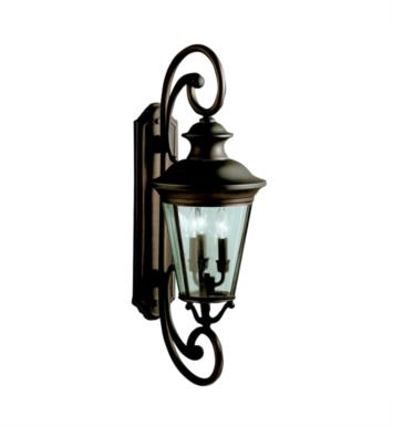 "Kichler 9348OZ Eau Claire 3 Light 11"" Incandescent Outdoor Wall Sconce in Olde Bronze"