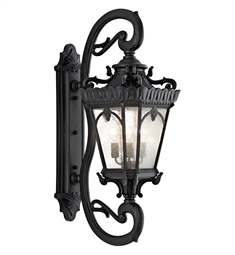 Kichler Tournai Collection 4 Light Outdoor Wall Sconce in Textured Black