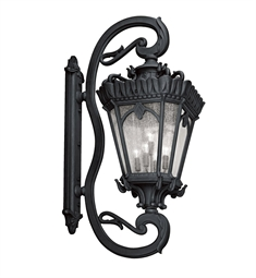 Kichler Tournai Collection 5 Light Outdoor Wall Sconce in Textured Black
