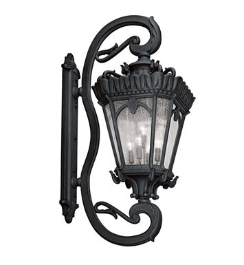 Kichler 9362BKT Tournai Collection 5 Light Outdoor Wall Sconce in Textured Black