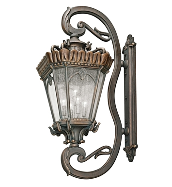 Kichler 9362LD Tournai Collection 5 Light Outdoor Wall Sconce in Londonderry