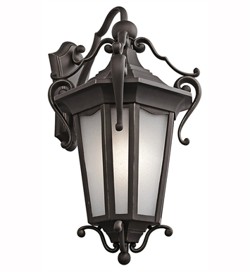 Kichler Nob Hill Collection 1 Light Outdoor Wall Sconce in Rubbed Bronze