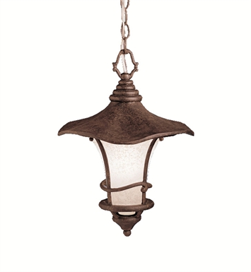 Kichler 9852AGZ Cotswold Collection 1 Light Outdoor Hanging Pendant in Aged Bronze
