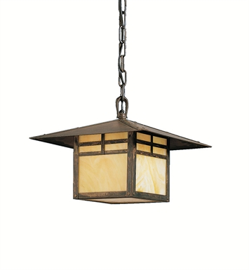 Kichler 9824CV One Light Outdoor Hanging Pendant in Bronze