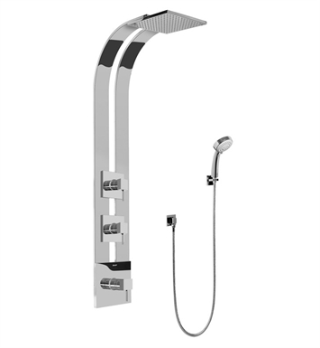 Graff GE2.030A-LM39S-SN Square Thermostatic Ski Shower Set with Handshowers With Finish: Steelnox (Satin Nickel)