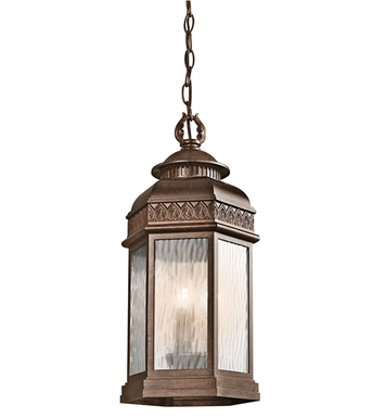 Kichler 49465BRZ Tolland Collection 3 Light Outdoor Hanging Pendant in Bronze