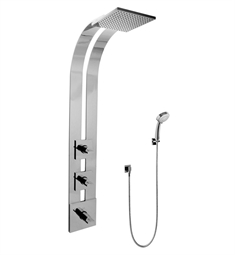 Graff GE2.030A-C14S Square Thermostatic Ski Shower Set with Handshowers