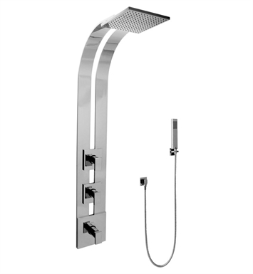 Graff GE2.020A-LM31S-SN Square Thermostatic Ski Shower Set with Handshowers With Finish: Steelnox (Satin Nickel)