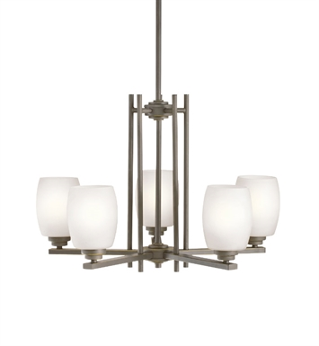 kichler 1896ni eileen collection chandelier 5 light with