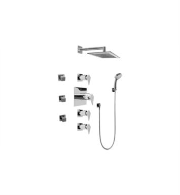 Graff GC1.232A-LM23S-SN Stealth Contemporary Square Thermostatic Set with Body Sprays and Handshower With Finish: Steelnox (Satin Nickel) And Rough / Valve: Trim + Rough