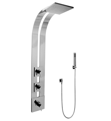 Graff GE2.020A-LM23S-SN Square Thermostatic Ski Shower Set with Handshowers With Finish: Steelnox (Satin Nickel)