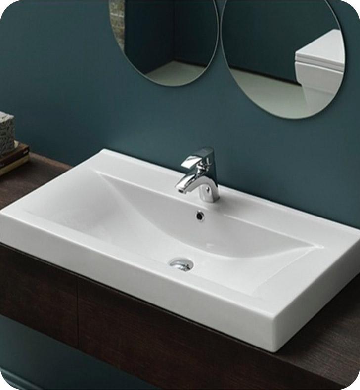 Nameeks 064600 u cerastyle bathroom sink for Nameeks bathroom sinks