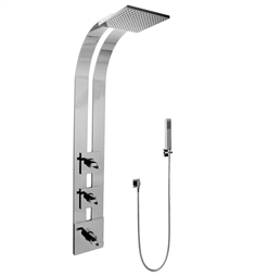 Graff GE2.020A-C9S Square Thermostatic Ski Shower Set with Handshowers