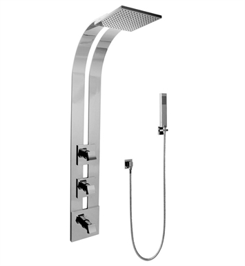 Graff GE2.020A-C10S-PC Square Thermostatic Ski Shower Set with Handshowers With Finish: Polished Chrome
