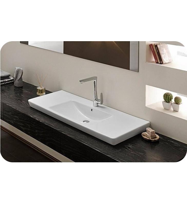 Nameeks 068500 u cerastyle bathroom sink for Nameeks bathroom sinks