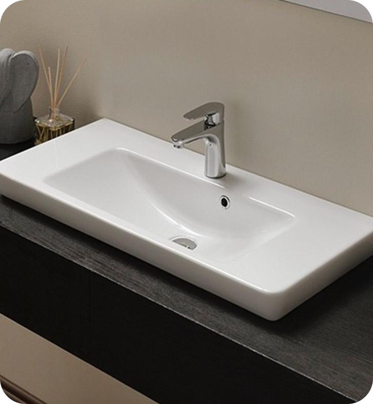 Nameeks 068300 u cerastyle bathroom sink for Nameeks bathroom sinks